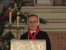 Zahvala provincijalne glavarice povodom sv. Mise zahvalnice u crkvi Kraljice svete krunice